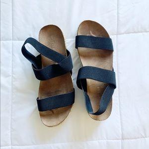 Black strap dress shoes